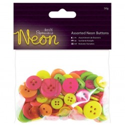Boutons Neon Assortiment en sachet mélange rose/jaune/pistache/orange boutons à coudre ou à utiliser en  Mini Embellissement