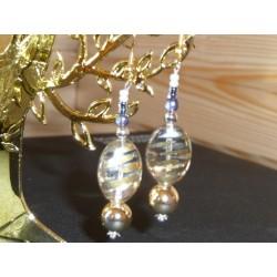 Tiges clou avec boucle dorée Accessoire Bijoux (sachet Découverte : 10 pièces)