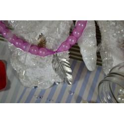Fermoir  à embout cannelé avec chaînette  argenté 10 mm (vendu à l'unité)