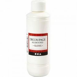 Vernis Colle Laque de Découpage 250 ml (contenance économique), technique du serviettage ou papier   en Promo !