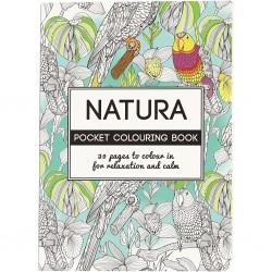 Livre de coloriage Anti stress, format Poche 10, 5 x14, 5 cm 20 pages Thème Nature papier 250 gr