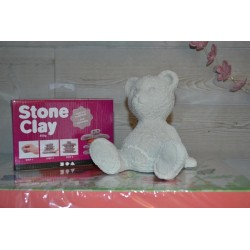 Pâte séchant à l'air, autodurcissante, stone clay 400 gr, effet pierre
