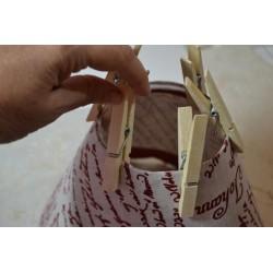Réducteur fixation d'abat-jour en plastique pour douille E14
