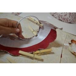 Ossature armature, carcasse d'abat-jour conique tête ronde en V, une seule pièce, diamètre 8 cm
