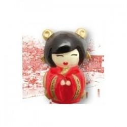 Moule MiniKokeshi la mariée pour plâtre, pâte séchant à l'air, polymère etc..