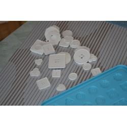 Moule souple silicone pour fabrication Boutons Couture originaux ou Embellissements