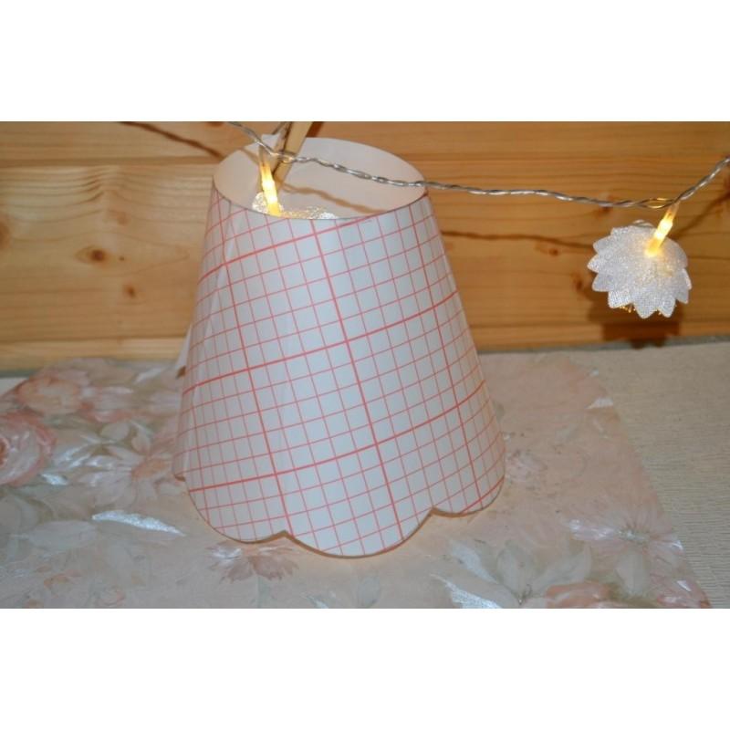 Kit patron pré-découpé en polyphane pour création abat-jour festonné rond simple,  20cm bas x 10 cm haut, 1 pièce