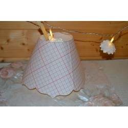 Kit patron pré-découpé en polyphane pour création abat-jour festonné en pointe, simple,  20cm bas x 10 cm haut, 1 pièce