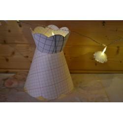 Kit patron pré-découpé en polyphane pour création abat-jour festonné rond forme chapeau,  20cm bas x 10 cm haut, 2 pièces