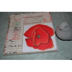 Châssis toile à peindre 20 cm x 20 cm, Coton blanc avec contour bois
