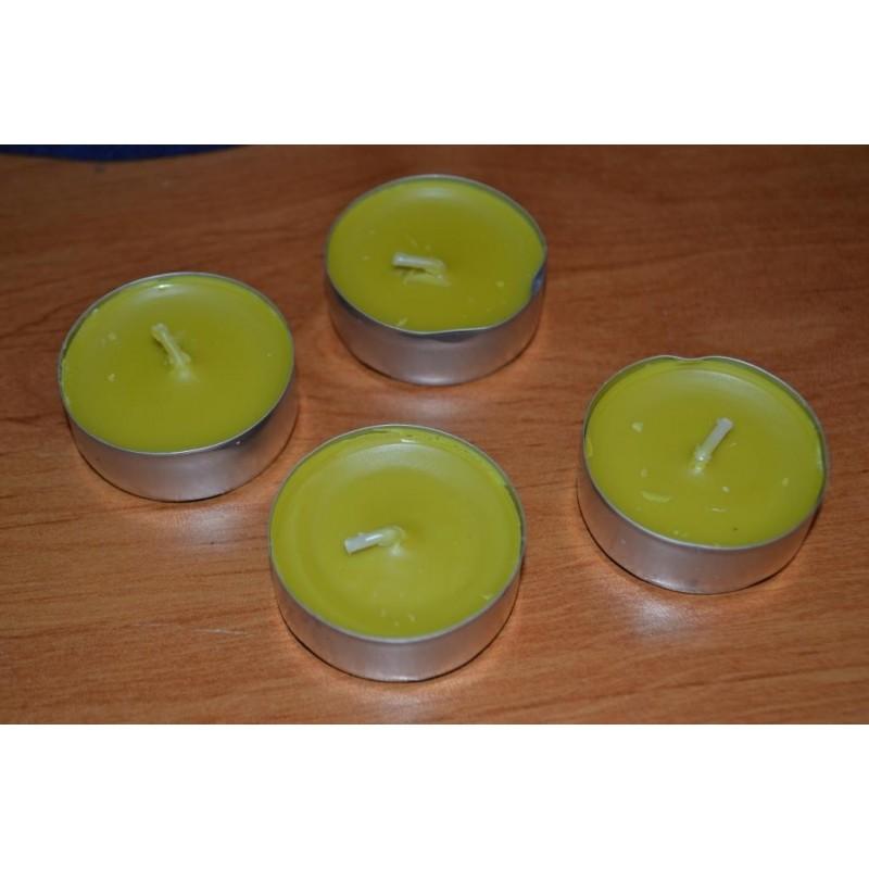 Bougies chauffe-plats parfumées thé citron (lot de 4)