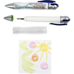 Stylo bille à personnaliser, le stylo bille Bulle porte dessin ou message,  L: 11,5 cm,