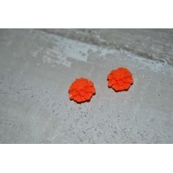 Perles très fines, forme bouton de Fleur dalhias, en résine, 15x8 mm, la taille du trou 1,5 mm,  lot de 2, couleur bleu ciel