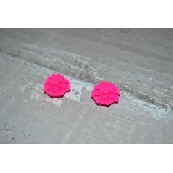 Perles très fines, forme bouton de Fleur dalhias, en résine, 15x8 mm, la taille du trou 1,5 mm,  lot de 2, couleur bleu marine
