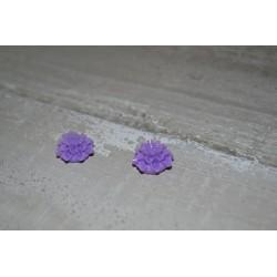 Perles très fines, forme bouton de Fleur dalhias, en résine, 15x8 mm, la taille du trou 1,5 mm,  lot de 2, couleur mauve