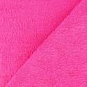 Tissu éponge OEKO-TEX  rose fushia (l: 150 cm vendu par 10 cm) 100% coton