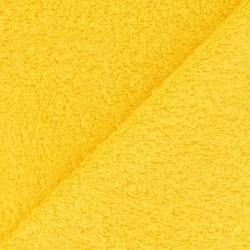 Tissu éponge uni jaune (l: 150 cm vendu par 10 cm) 100% coton