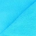 Tissu éponge OEKO-TEX  bleu turquoise (l: 150 cm vendu par 10 cm) 100% coton