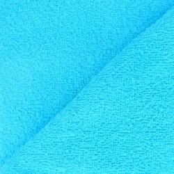 Tissu éponge uni bleu turquoise (l: 150 cm vendu par 10 cm) 100% coton