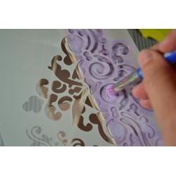 Pochoir plastique souple multi-usages chiffres et ponctuation, 19 pièces, 12,5 x 11 cm, pour customisations diverses