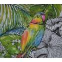 Serviette en papier motifs Perroquet  (vendue à l'unité,  30 x 30 cm)