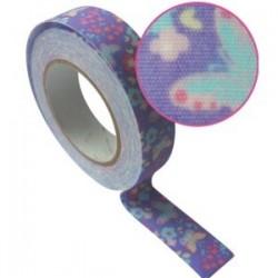 Ruban tissu décoratif adhésif Masking Tape papillons