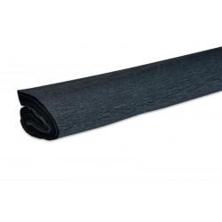 Papier crépon couleur noir  50 cm x 200 cm (1 pièce)