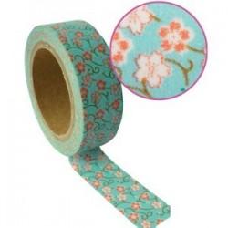 Ruban tissu adhésif Masking Tape bleu Prairie