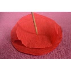 Papier crépon couleur rouge  50 cm x 200 cm (1 pièce)