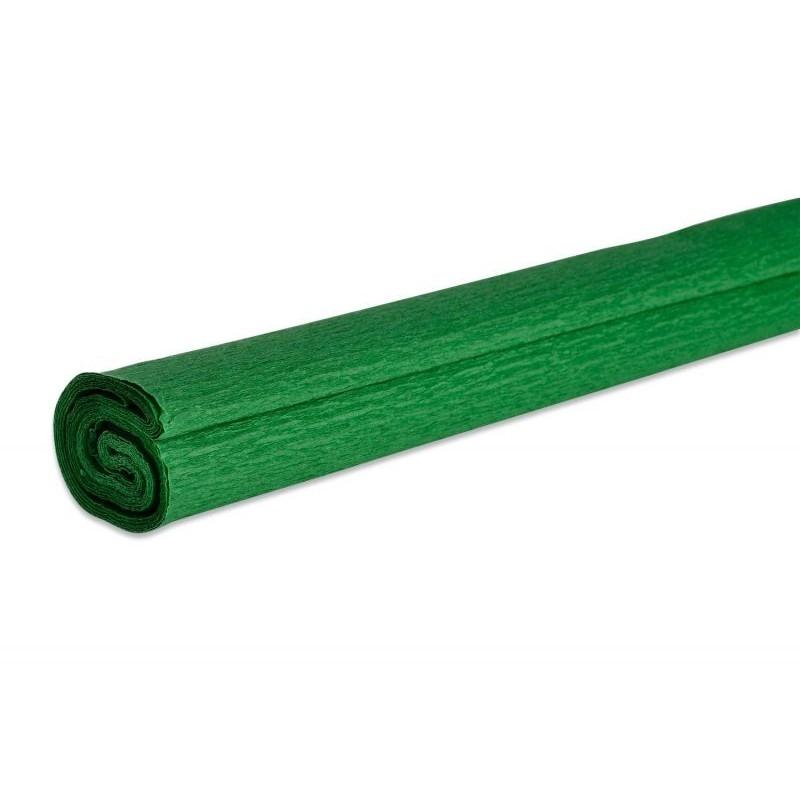 Papier crépon couleur vert  50 cm x 200 cm (1 pièce)