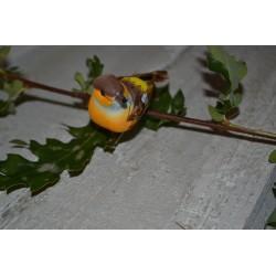 Oiseau miniature en plume bleu , à suspendre ou pour embellissement ,1pièce 7 x 4,5 cm