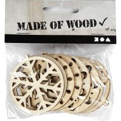 Support à décorer en bois  léger MDF,  Boules ajourées  (A suspendre ou à poser)  Modèle  50 mm, 8 pièce 4 motifsx2