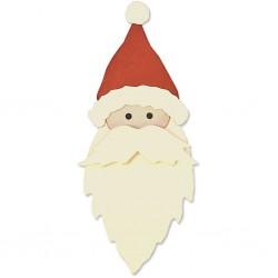 Matrice de Découpe sizzix  gabarit de coupe tête père Noël, dim. 0,95x0,95cm - 4,76x7,30 cm, ..Nouveauté Noël 2017 !