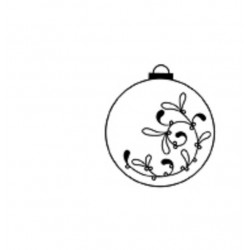 Tampon Bois, impression boule de Noël impression fleur fleur gui, 3.5 cm      ..Promo - 15 %