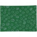 """Coupon Feutrine imprimée ronds pailletées argentées fond vert """"vert  design"""" format A4, vendue à l'unité, 1 mm A4"""