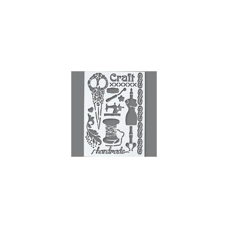 Pochoir 12 motifs Esprit Vintage Couture (Format A 4)