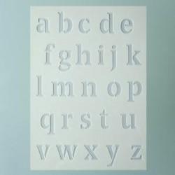 Pochoir Alphabet Lettres  Minuscules (Format A 5)