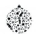 Tampon Bois, impression boule de Noël impression feuille houx, 3.5 cm x 3 cm
