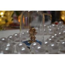 Figurines miniatures Anges dorés, en résine polychrone ,  hauteur 3 cm, vendu lot de 3