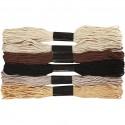 Fil  à broder, coton, Naturelle, 6 brins assortis, 8mx6, épaisseur 1 mm