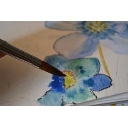 Peinture Aquarelle transparente liquide Art Aqua Pigment, violet, 30ml