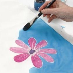 Peinture sur soie et autres textiles, à base d'eau, turquoise Textil Silk, 50ml