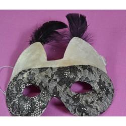 Masque de chat  en papier mâché dim. 16 x 11.5 cm, 1 pièce