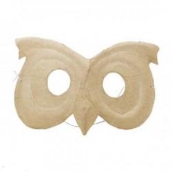 Masque Chouette en papier mâché dim. 15.5 x 8.5 cm, 1 pièce