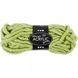 Laine Acrylique XL, coloris : vert pistache, Qualité manga, 200gr  L: 17 m