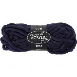 Laine Acrylique XL, coloris : bleu marine, Qualité manga, 200gr  L: 17 m