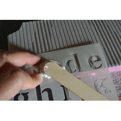 Peinture Pailletée Dorée pour Textile & papier & plâtre - Mise en relief -  FASHION
