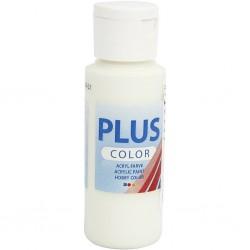 """Peinture Acrylique PLUS Color Blanc  """"eggshell white"""" 60ml"""