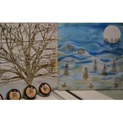 Feutre pinceau encre d'embossage, transparent, 2 pointes