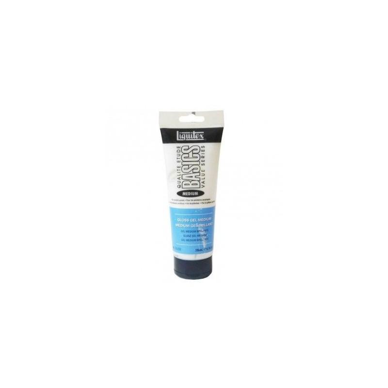 Médium gel Gloss brillant épaississeur (moyen) pour peinture acrylique, flacon 200 ml